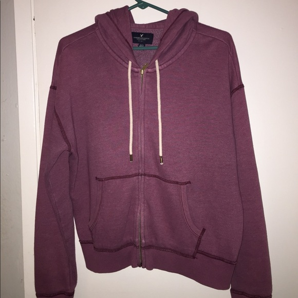 American Eagle Outfitters Jackets & Blazers - Burgundy Zip Up Hopdie